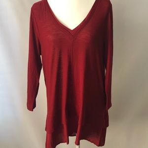 Two By Vince Camuto -  Pretty Red Top - Size Large